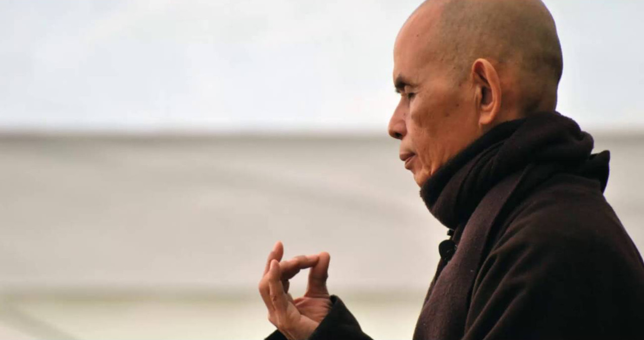 Thich Nhat Hanh eyes closed mudra
